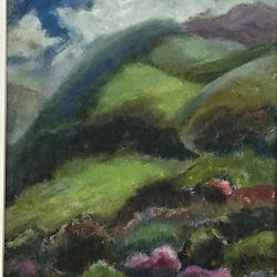 Swiss Landscape, oil on board, 14.5 x 19.5 cms