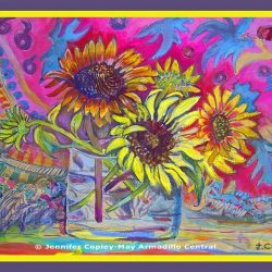 Jennifer Copley-May Zingy Sunflowers